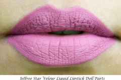 Jeffree Star_Velour Liquid Lipstick_Doll-Parts-Swatch