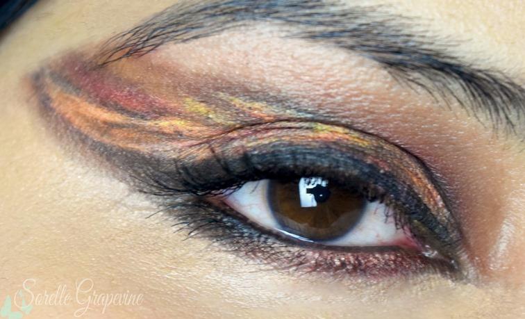 BTS - Fire Inspired Creative Makeup Look 2
