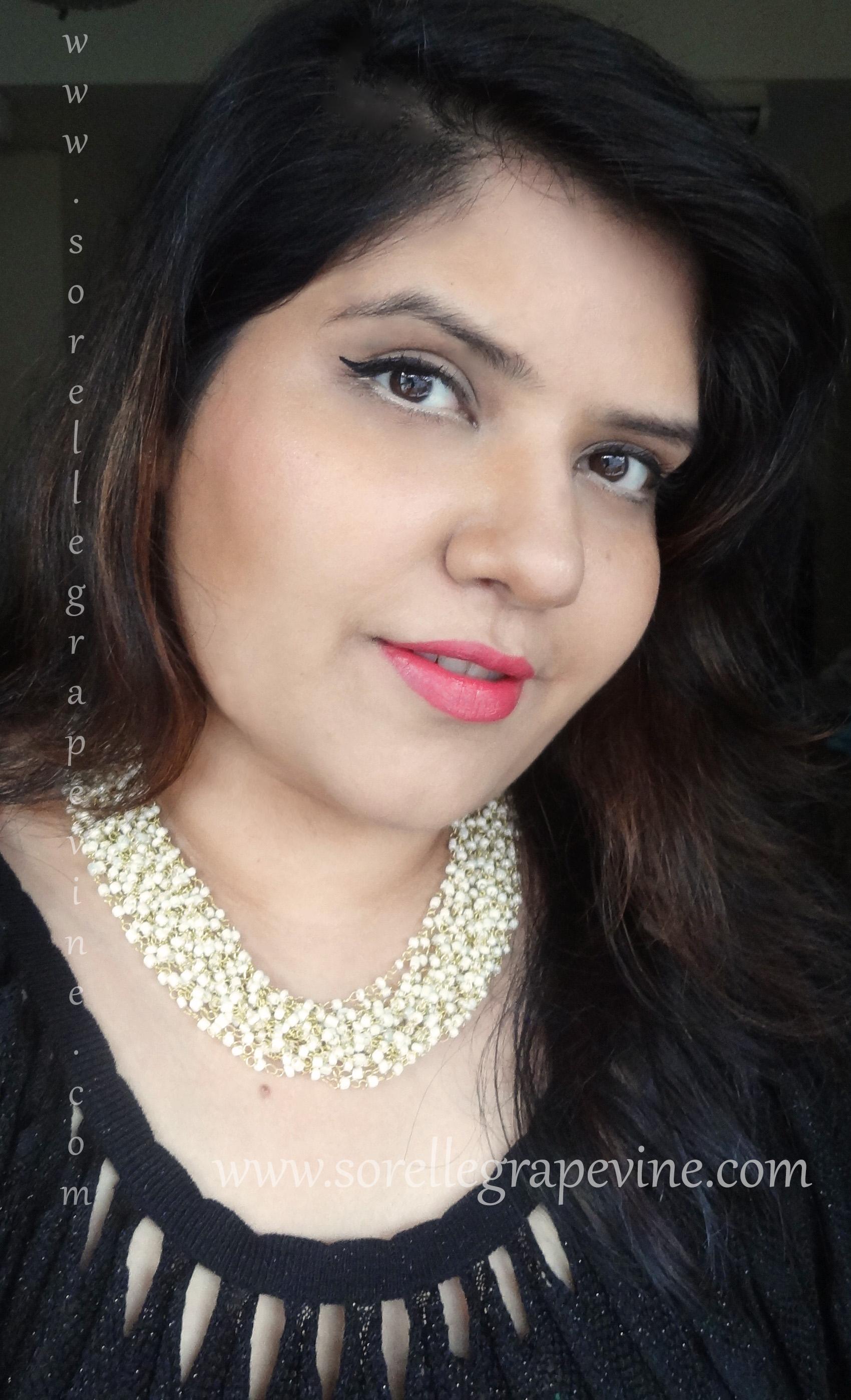 Nude Eyeliner Makeup Look Featuring Colorbar Tango Pink Lipstick
