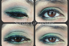 Green and Gold Eye Makeup Look